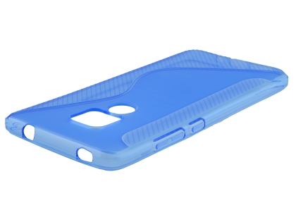 Wave Case for Huawei Mate 20 - Blue Soft Cover
