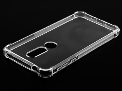 Gel Case with Bumper Edges for Nokia 7.1 - Clear Soft Cover