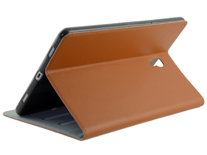 Premium Genuine Leather Slim Portfolio Case with Stand for Samsung Galaxy Tab A 10.5 - Brown Leather Flip Case