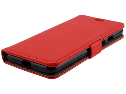Synthetic Leather Wallet Case with Stand for Google Pixel 3XL - Red