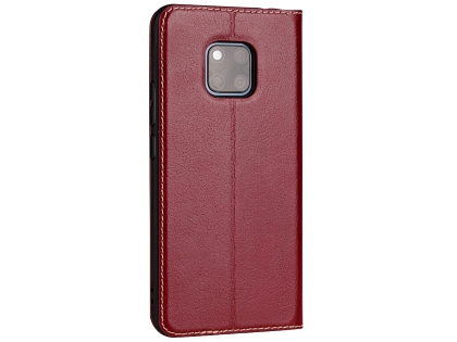 Top Grain Leather Case With Windows for Huawei Mate 20 Pro - Rosewood Leather Case
