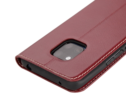 Top Grain Leather Case With Windows for Huawei Mate 20 Pro - Rosewood