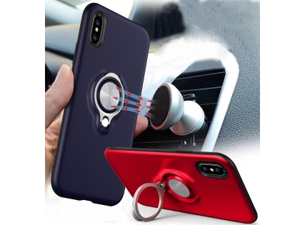 Impact Case With Ring Holder for iPhone Xs/X - Red