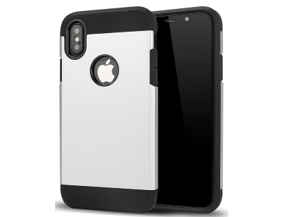Impact Case for Apple iPhone Xs Max - Silver/Black Impact Case