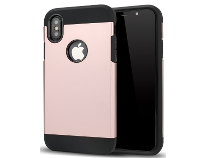 Impact Case for Apple iPhone Xs Max - Rose Gold/Black Impact Case