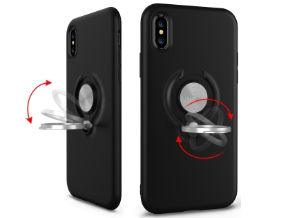 Impact Case With Ring Holder for iPhone Xs Max - Midnight Blue