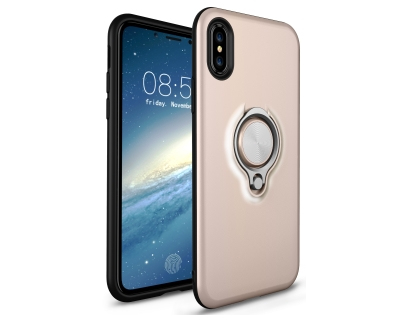 Impact Case With Ring Holder for iPhone Xs Max - Gold Impact Case