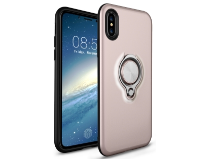 Impact Case With Ring Holder for iPhone Xs Max - Rose Gold