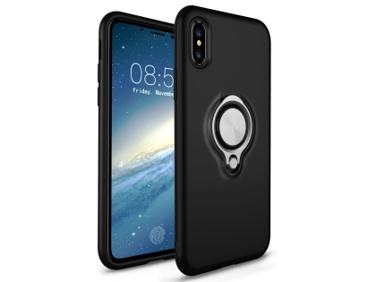 Impact Case With Ring Holder for iPhone Xs Max - Black Impact Case