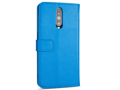 Synthetic Leather Wallet Case with Stand for OPPO R17 Pro - Blue Leather Wallet Case