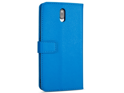Synthetic Leather Wallet Case with Stand for OPPO R17 - Blue Leather Wallet Case