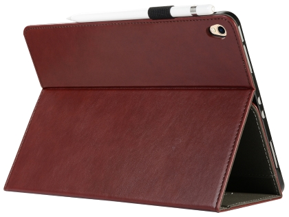 Synthetic Leather Flip Case with Stand for iPad Pro 12.9 (2018) - Burgundy Leather Flip Case