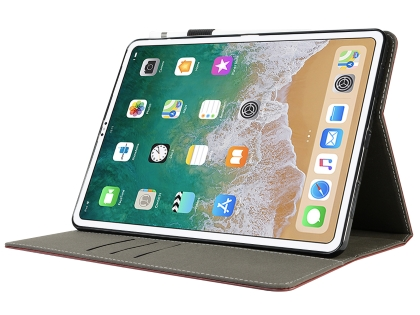 Synthetic Leather Flip Case with Stand for iPad Pro 12.9 (2018) - Burgundy