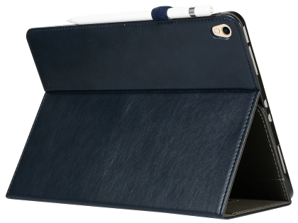 Synthetic Leather Flip Case with Stand for iPad Pro 12.9 (2018) - Midnight Blue Leather Flip Case