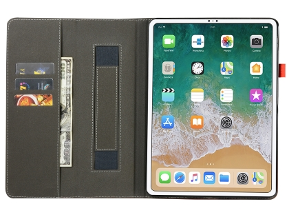 Synthetic Leather Flip Case with Stand for iPad Pro 12.9 (2018) - Midnight Blue