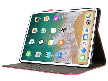 Synthetic Leather Flip Case with Stand for iPad Pro 11 - Pink