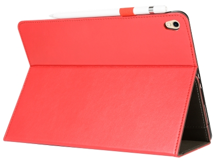 Synthetic Leather Flip Case with Stand for iPad Pro 11 - Red Leather Flip Case