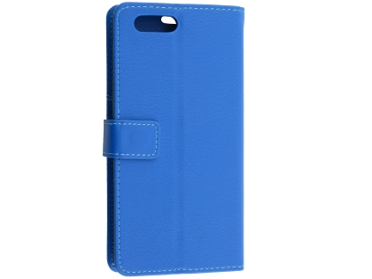 Synthetic Leather Wallet Case with Stand for OPPO A3s - Blue Leather Wallet Case