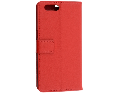 Synthetic Leather Wallet Case with Stand for OPPO A3s - Red Leather Wallet Case