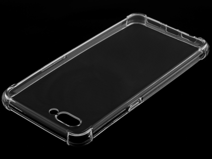 Gel Case with Bumper Edges for OPPO A3s - Clear Soft Cover