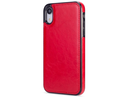 2-in-1 Synthetic Leather Wallet Case for iPhone XR - Red