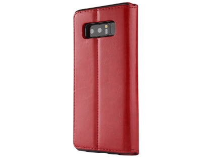 2-in-1 Synthetic Leather Wallet Case for Samsung Galaxy Note8 - Red Leather Wallet Case