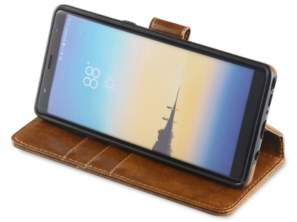 2-in-1 Synthetic Leather Wallet Case for Samsung Galaxy Note8 - Brown
