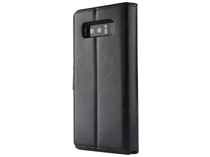 2-in-1 Synthetic Leather Wallet Case for Samsung Galaxy Note8 - Black Leather Wallet Case