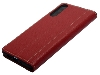 Premium Leather Case for Huawei P30 - Burgundy Leather Wallet Case