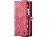 CaseMe 2-in-1 Synthetic Leather Wallet Case for iPhone XR - Rose Leather Wallet Case