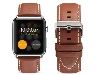 Premium Leather Band for 42/44 mm Apple Watch  - Caramel Watch Band