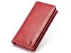 CaseMe Slim Wallet With Mobile Pouch - Red Leather Slide-in Case