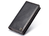 CaseMe Slim Wallet With Mobile Pouch - Black Leather Slide-in Case