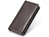 CaseMe Slim Wallet With Mobile Pouch - Brown Leather Slide-in Case