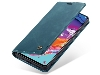 CaseMe Slim Synthetic Leather Wallet Case with Stand for Samsung Galaxy A70 - Teal Leather Wallet Case