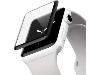 Curved Glass Screen Protector for Apple Watch 38 mm - Black/Clear Screen Protector