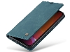 CaseMe Slim Synthetic Leather Wallet Case with Stand for iPhone 11 Pro Max - Teal Leather Wallet Case