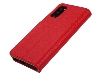 Premium Leather Wallet Case for Samsung Galaxy S20 - Red Leather Wallet Case