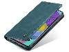 CaseMe Slim Synthetic Leather Wallet Case with Stand for Samsung Galaxy A51 - Teal Leather Wallet Case