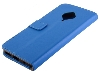 Synthetic Leather Wallet Case with Stand for vivo X50 Lite - Blue Leather Wallet Case
