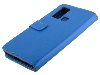 Synthetic Leather Wallet Case with Stand for vivo Y30 - Blue Leather Wallet Case