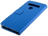 Synthetic Leather Wallet Case with Stand for LG K51s - Blue Leather Wallet Case