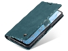 CaseMe Slim Synthetic Leather Wallet Case with Stand for Google Pixel 4a - Teal Leather Wallet Case