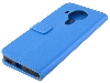 Synthetic Leather Wallet Case with Stand for Nokia 5.4 - Blue Leather Wallet Case