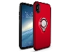 Impact Case With Ring Holder for iPhone Xs/X - Red Impact Case